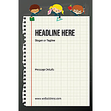 Custom Poster Notebook Vertical
