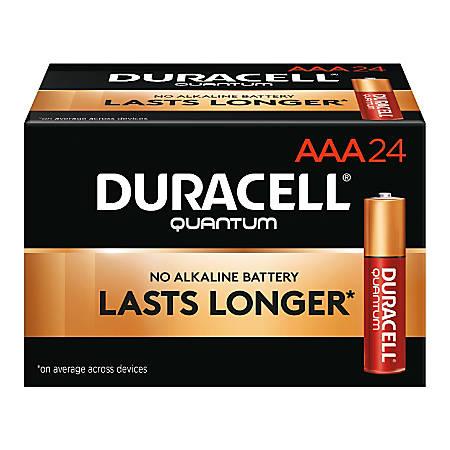 Duracell® Quantum Alkaline AAA Batteries, Pack Of 24