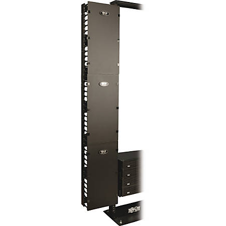 Tripp Lite Open Frame Rack 6ft Vertical Cable Manager 12in Wide - Black