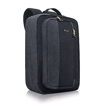 """Solo Work to Play Hybrid Backpack With 15.6"""" Laptop Pocket, Navy/Gray"""