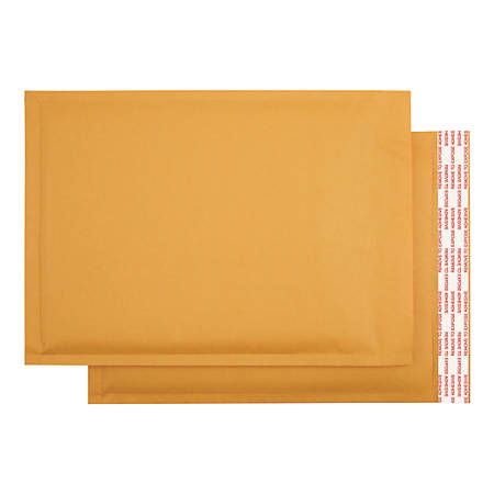 """Office Depot® Brand Self-Sealing Bubble Mailers, Size 2, 8 1/2"""" x 11"""", Pack Of 12"""
