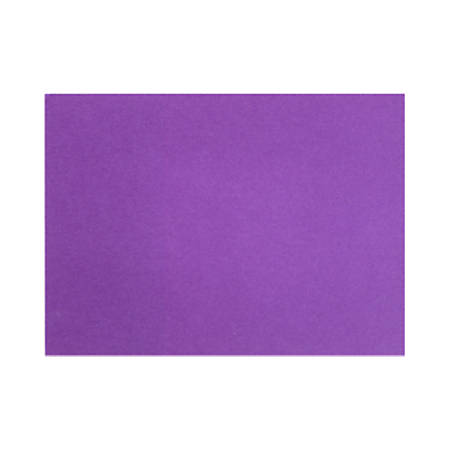 "LUX Flat Cards, A9, 5 1/2"" x 8 1/2"", Purple Power, Pack Of 50"