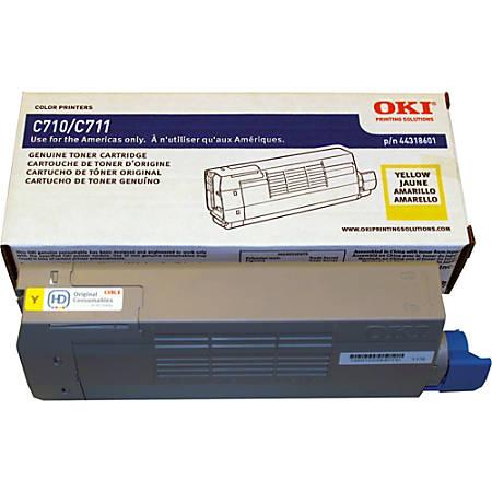 Oki Toner Cartridge - LED - 11500 Pages - Yellow - 1 Each