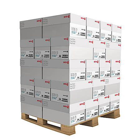 Xerox® Vitality™ Pastel Multipurpose Paper, Letter Size Paper, 20 Lb, FSC®Certified, 30% Recycled, Yellow, 500 Sheets Per Ream, 10 Reams Per Case, Pallet Of 40 Cases, Inside Delivery Or Dock Delivery