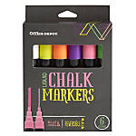 Office Depot® Liquid Chalk Markers, Bullet Point, Assorted Colors, Pack Of 6 Markers