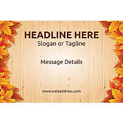 Perforated Window Decal Autumn Leaves