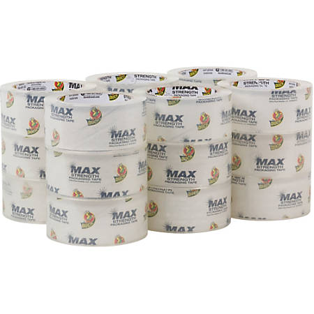 Duck Brand Brand Max Strength Packaging Tape - 55 yd Length - 18 / Carton - Clear
