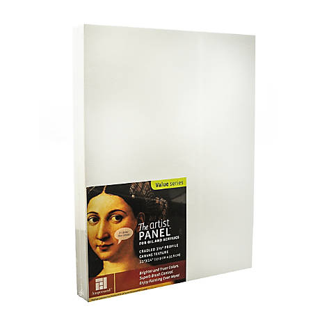 "Ampersand Artist Panel Canvas Texture Cradled Profile, 11"" x 14"", 1 1/2"""