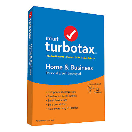 TurboTax® 2019, Home & Business Federal Efile, For PC/Mac