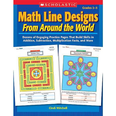 Scholastic Math Line Designs From Around The World: Grades 2-3