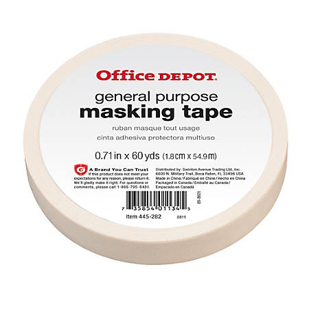"Office Depot® Brand General-Purpose Masking Tape, 0.71"" x 60 Yd."