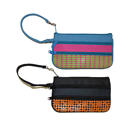 Inkology Wristlet Pencil Pouches, Assorted Colors, Pack Of 6 Pouches