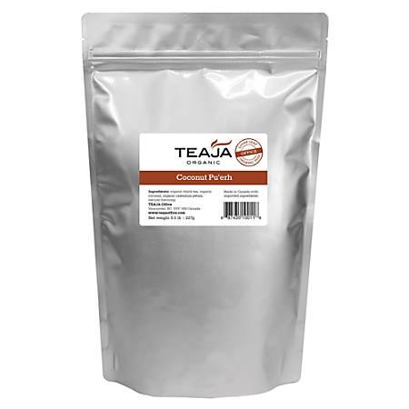 Teaja Organic Loose-Leaf Tea, Coconut Pu'erh, 8 Oz Bag