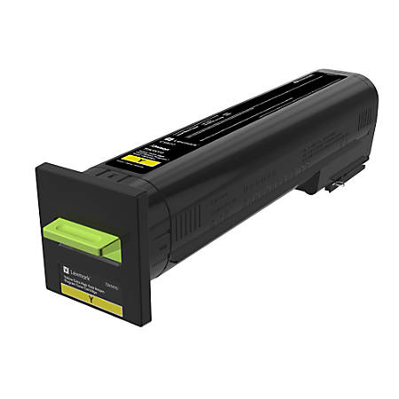 Lexmark™ Extra-High Yield Return Program Toner Cartridge, Yellow, CS820 (72K1XY0)
