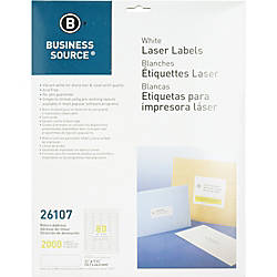 Business Source Address Laser Labels Permanent