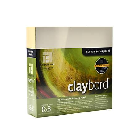 "Ampersand Cradled Claybord, 8"" x 8"", 2"""