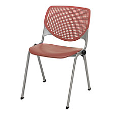 KFI Studios KOOL Stacking Chair CoralSilver