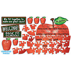Scholastic Welcome Apple Bulletin Board Aid