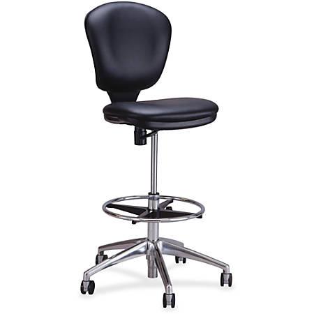 "Safco Metro Extended Height Chair - Vinyl Black Seat - Vinyl Black Back - 5-star Base - 18.25"" Seat Width x 17"" Seat Depth - 26"" Width x 26"" Depth x 49"" Height"