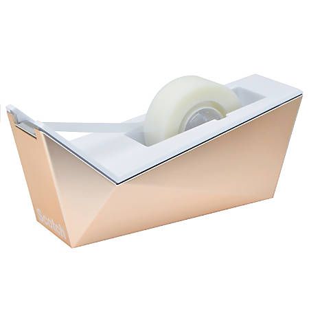Scotch® Desktop Facet Tape Dispenser, Copper