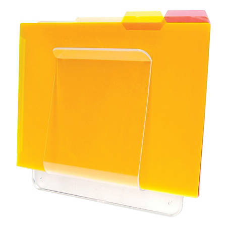 """Deflect-O® Wall Mount File And Chart Holder, 1 Compartment, 10"""" x 2"""" x 10 1/2"""", Clear"""