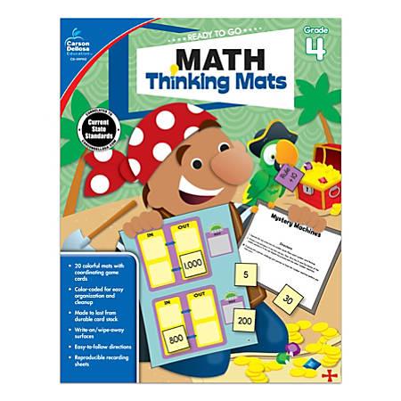 Carson-Dellosa Math Thinking Mats, Grade 4
