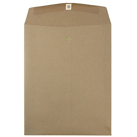 "JAM Paper® Open-End Envelopes With Gum Closure, #13 1/2 Catalog, 10"" x 13"", Brown Kraft Paper Bag, Pack Of 25"