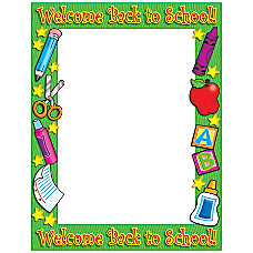 Scholastic Printer Paper Welcome Back To