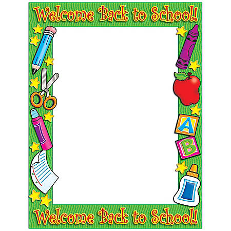 Scholastic Printer Paper, Welcome Back To School, Pack Of 50 Sheets