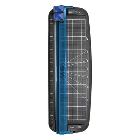 "Westcott® Multi-Purpose Personal Trimmer, 12"", Black/Blue"