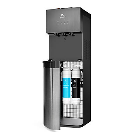 """Avalon Hot/Cold Self-Cleaning Bottleless Water Dispenser, 41""""H x 12""""W x 13""""D, Black Stainless Steel"""