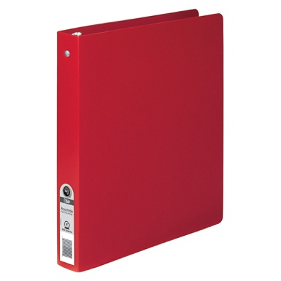 wilson jones flexible accohide poly binders 1 rings executive red by