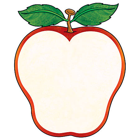 Scholastic Die-Cut Note Pad, Welcome Apple, Pad Of 50 Sheets