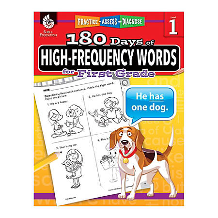 Shell Education 180 Days Of High-Frequency Words, Grade 1