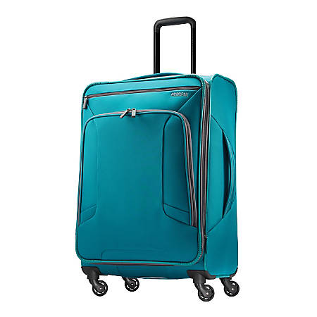 """American Tourister® 4 KIX Rolling Spinner, 24 1/4""""H x 17""""W x 9 1/2""""D, Teal"""