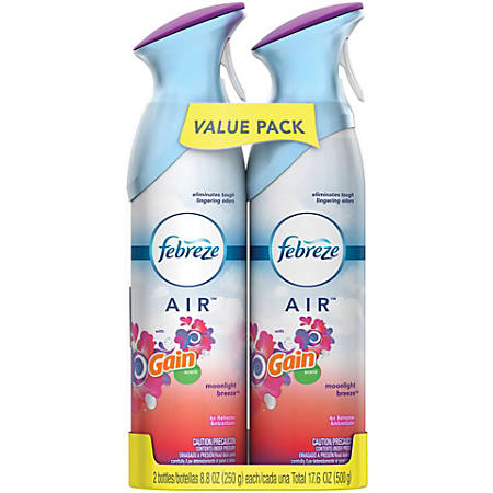 Febreze® AIR Freshener, Gain Moonlight Breeze, 8.8 Oz, Pack Of 2