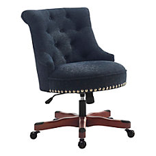 Linon Dallas Fabric Mid Back Chair