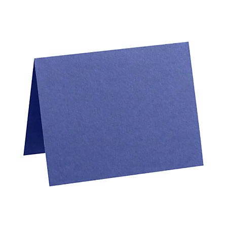 "LUX Folded Cards, A7, 5 1/8"" x 7"", Boardwalk Blue, Pack Of 1,000"