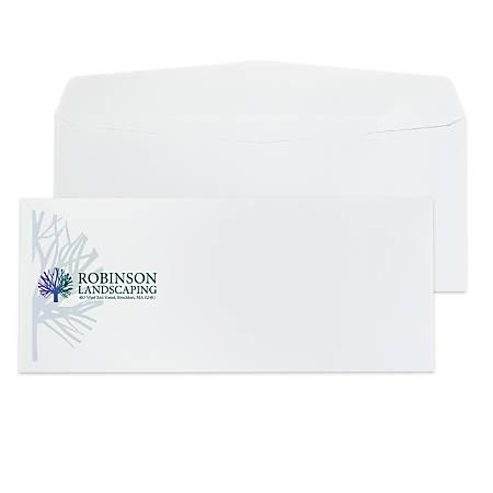 """Custom #10, Full-Color, Standard Business Envelopes, 4-1/8"""" x 9-1/2"""", White Wove, Box Of 250"""