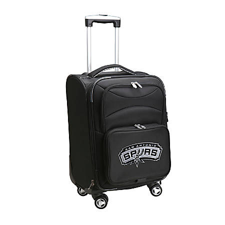 "Denco ABS Upright Rolling Carry-On Luggage, 21""H x 13""W x 9""D, San Antonio Spurs, Black"