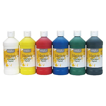Handy Art Masters Tempera Paint - 16 oz - 6 / Set - Assorted