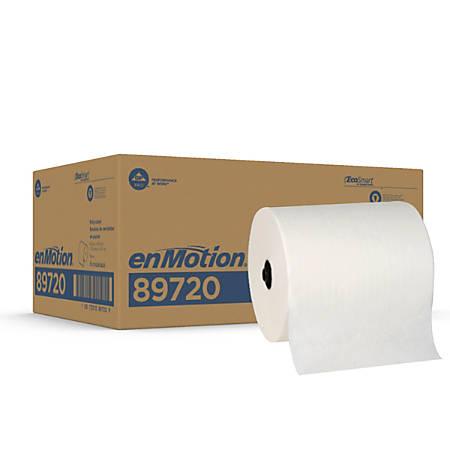 """enMotion® Flex Paper Towel Rolls, 8 1/4"""" x 550', White, Case Of 6 Rolls"""
