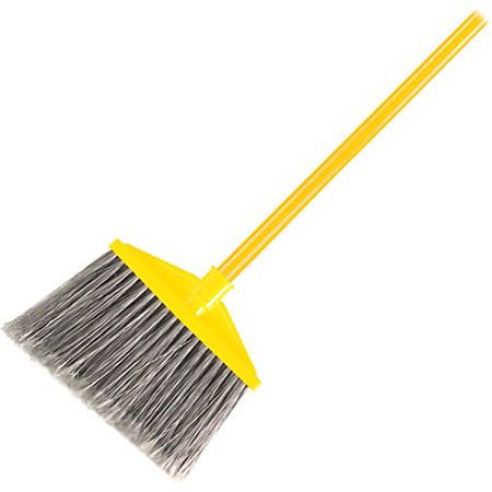 "Rubbermaid Commercial Angle Broom - Polypropylene Bristle - x 1"" Diameter Vinyl Handle - 6 / Carton"