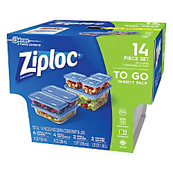 Ziploc Plastic Food Storage Container Set