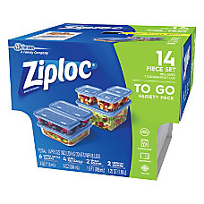 Ziploc 7 Piece Plastic Food Storage