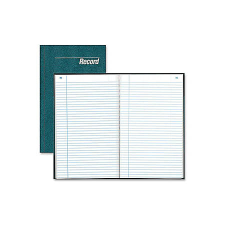 "Rediform Granite Series Record Books - 150 Sheet(s) - Gummed - 7 1/4"" x 12 1/4"" Sheet Size - White Sheet(s) - Blue Print Color - Blue Cover - Recycled - 1 Each"