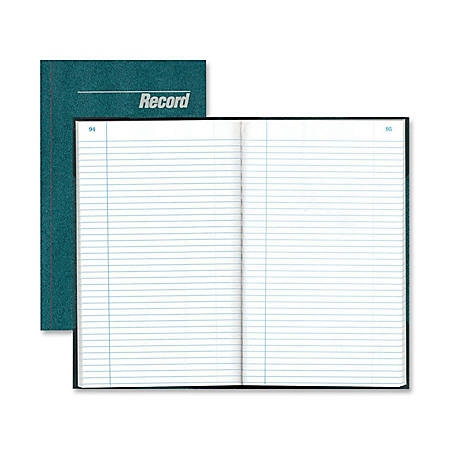 "Rediform Granite Series Record Books, 7-1/4"" x 12-1/4"", 300 Sheets, Blue"