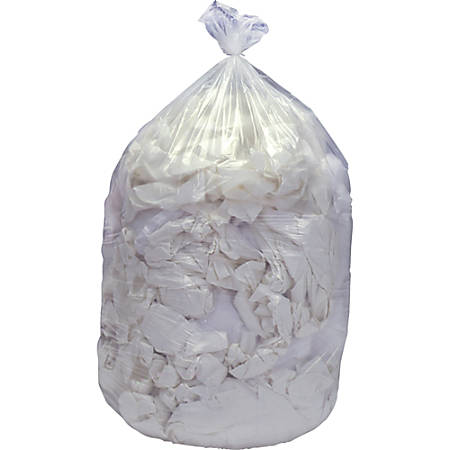 """SKILCRAFT® Low Density Trash Liners, 16 Gallons, 24"""" x 32"""", Clear, Pack Of 20"""
