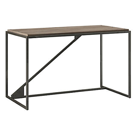 "Bush Furniture Refinery Industrial Desk, 50""W, Rustic Gray, Standard Delivery"