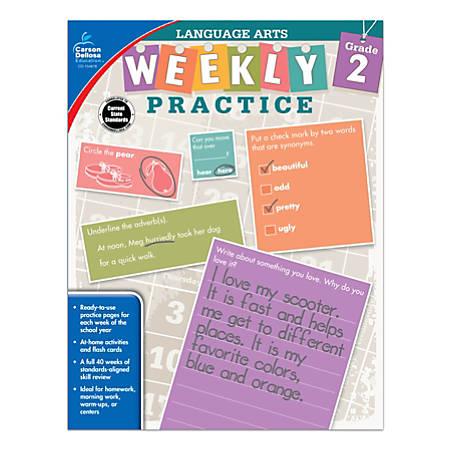Carson-Dellosa™ Language Arts Weekly Practice Workbook, Grade 2